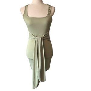 Boohoo Sleeveless Front Sash Mini Dress